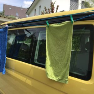 Wäscheleinenhalter VW Bus